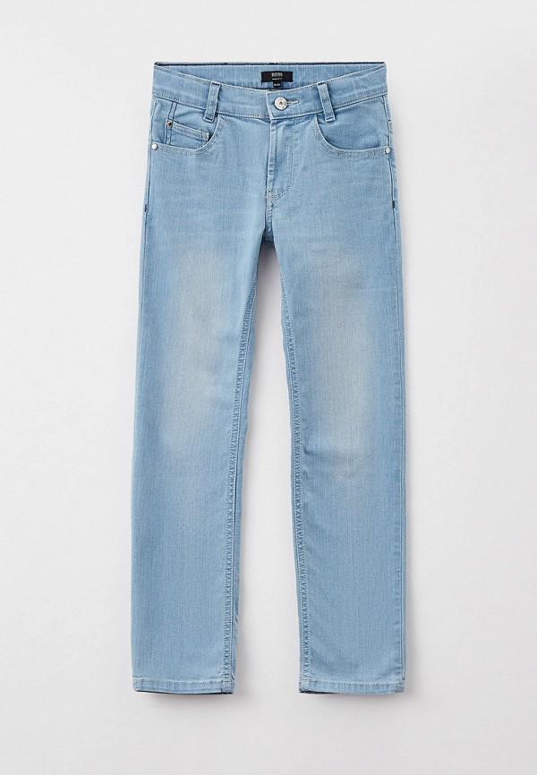 джинсы boss для мальчика, голубые