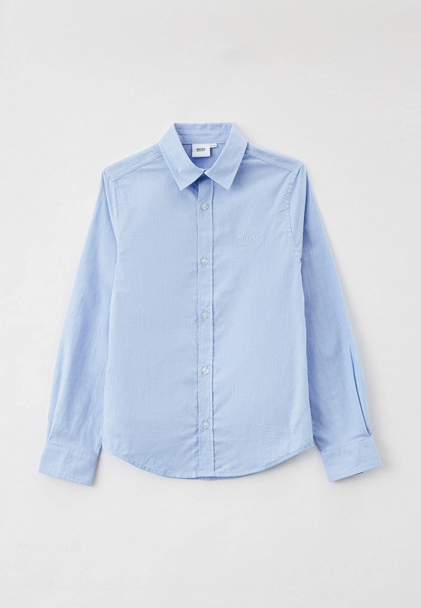 рубашка boss для мальчика, голубая