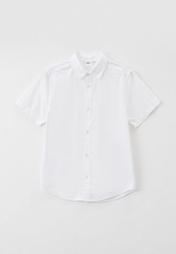 рубашка boss для мальчика, белая