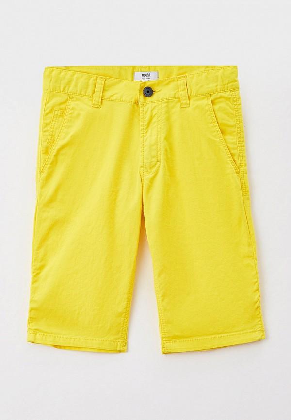 шорты boss для мальчика, желтые