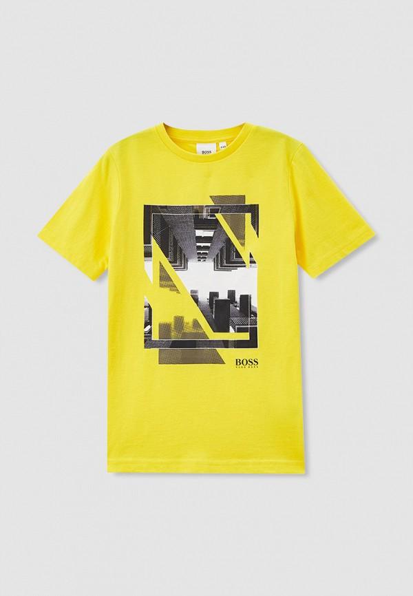 футболка с коротким рукавом boss малыши, желтая
