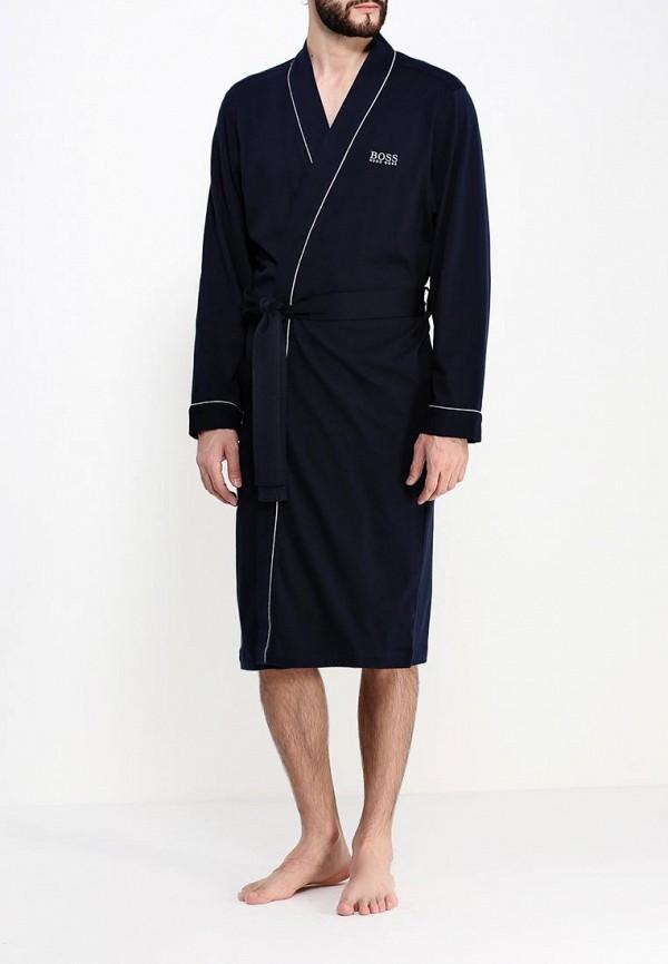 мужской халат hugo boss, синий