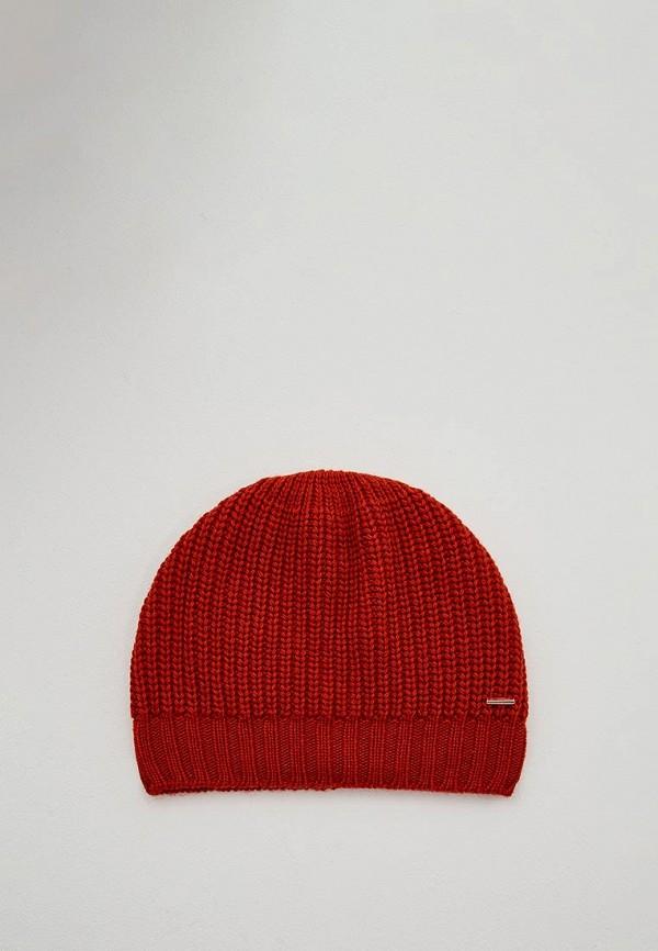 женская шапка hugo boss, красная