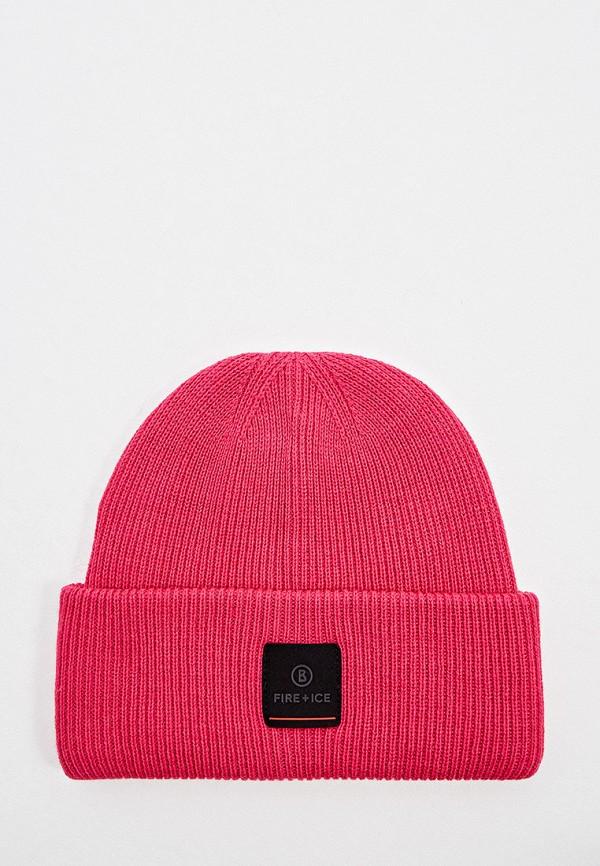 мужская шапка bogner, розовая