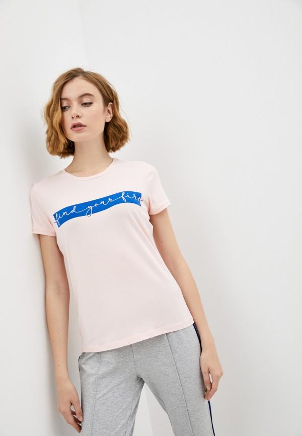 женская футболка bogner, розовая