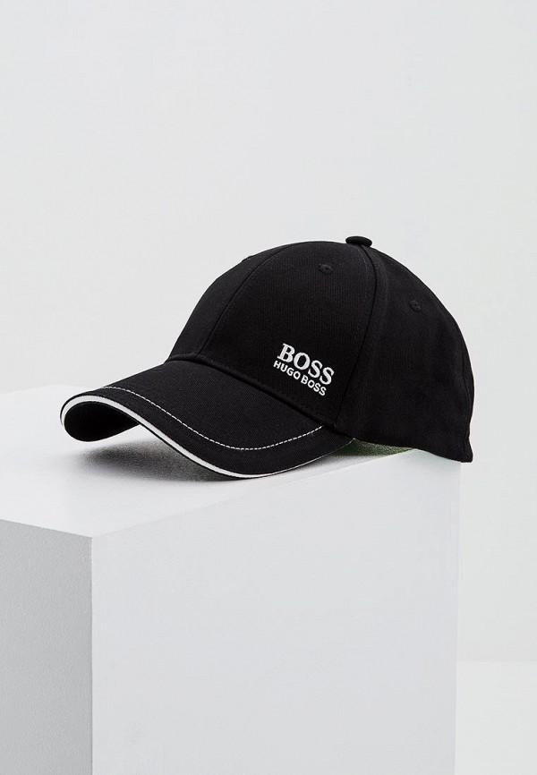 мужская бейсболка boss green, черная