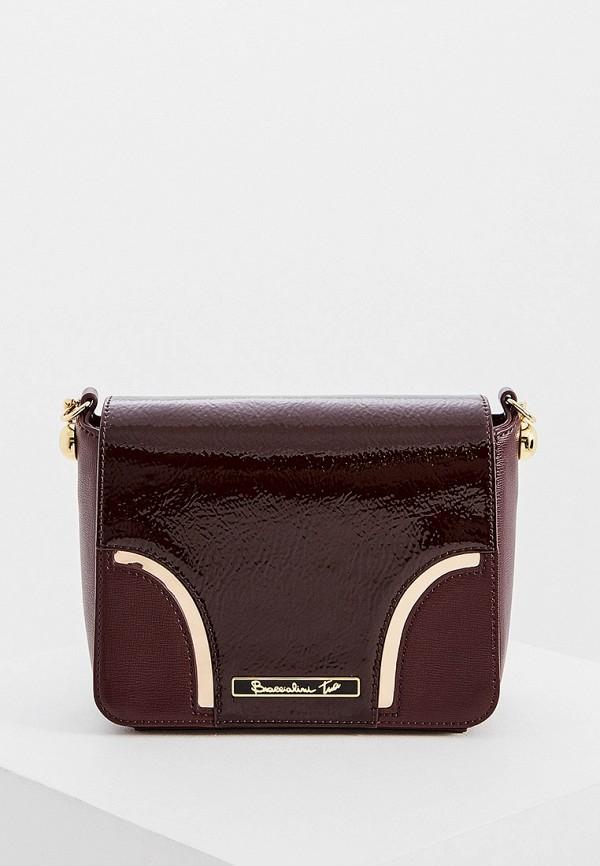 женская сумка braccialini, бордовая