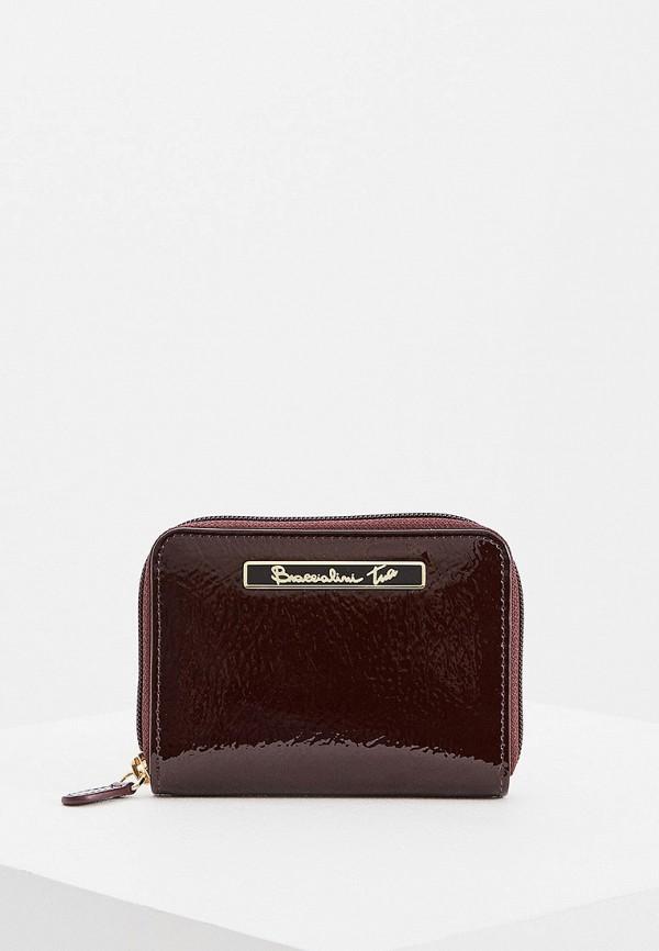 женский кошелёк braccialini, бордовый