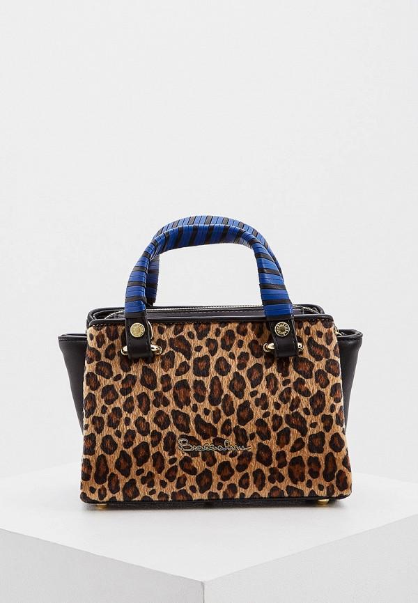 женская сумка braccialini, коричневая