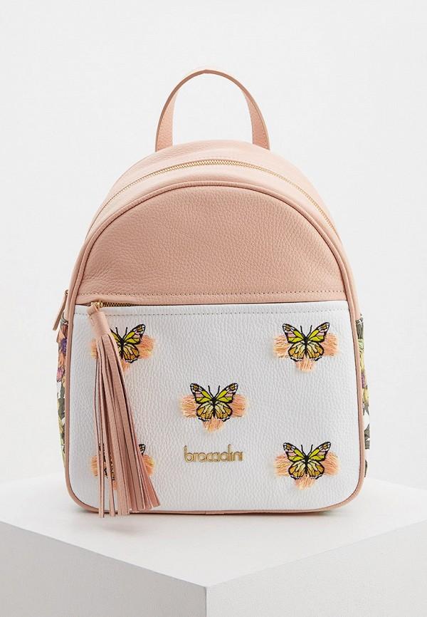 женский рюкзак braccialini, розовый