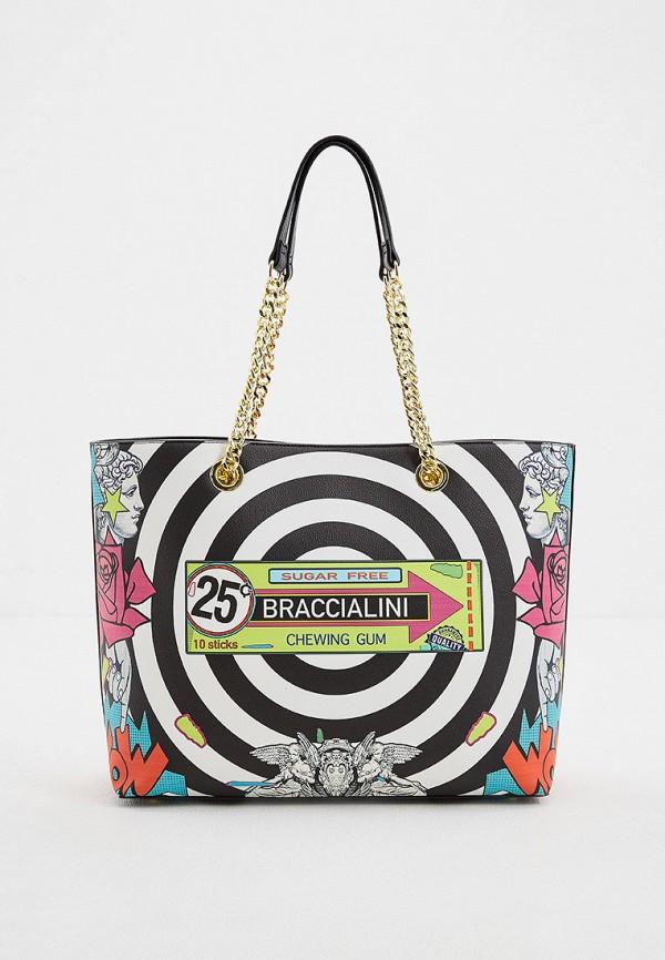 женская сумка-шоперы braccialini, разноцветная