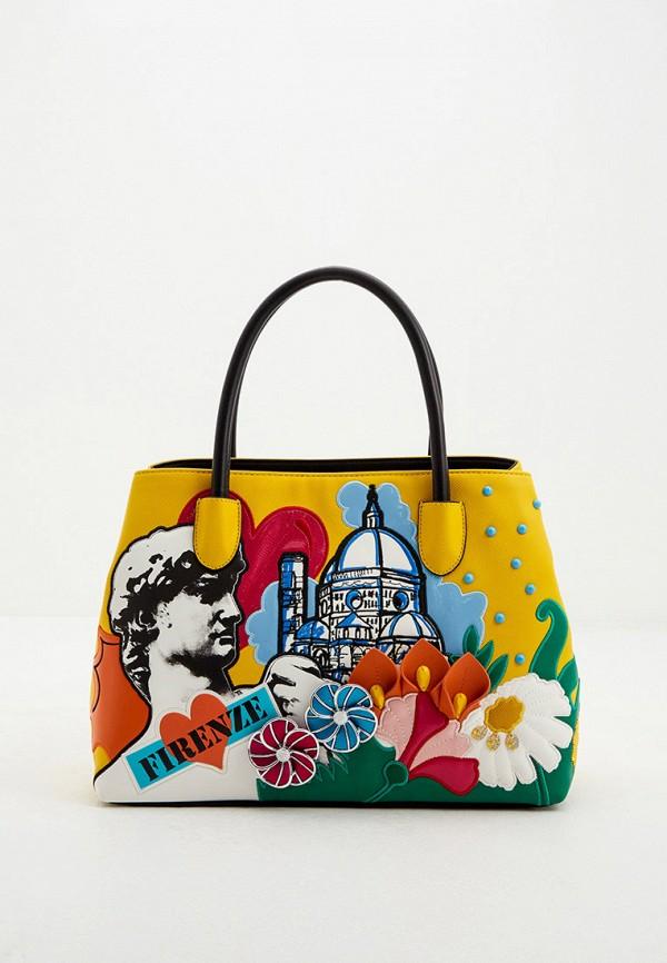 женская сумка braccialini, желтая