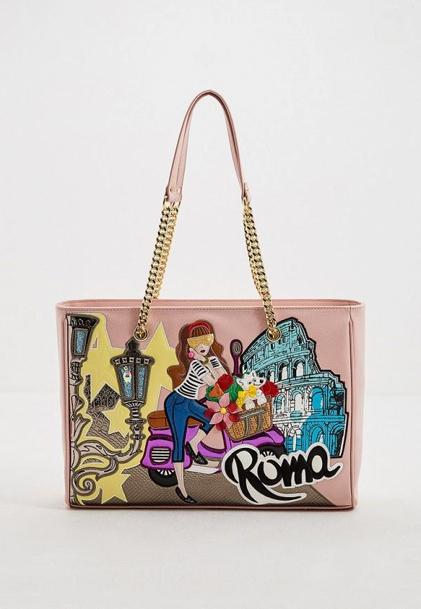 женская сумка-шоперы braccialini, розовая