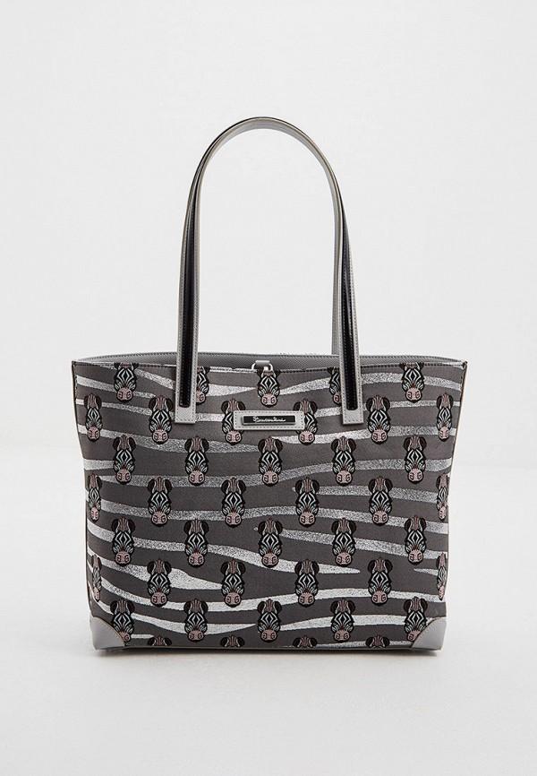 женская сумка с ручками braccialini, серая