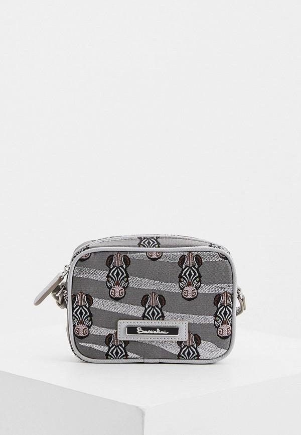 женская сумка через плечо braccialini, серая