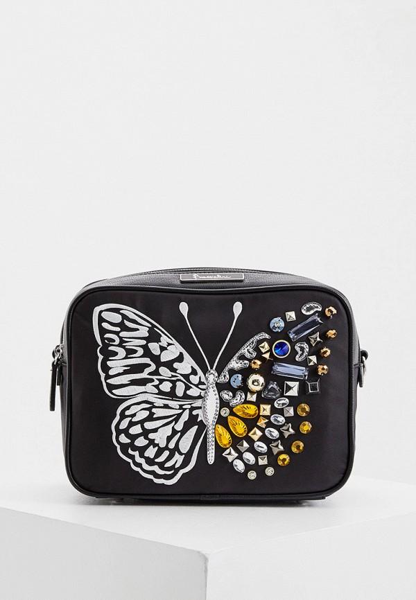 женская сумка через плечо braccialini, черная