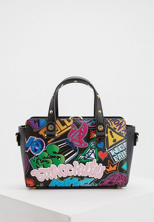 женская сумка с ручками braccialini, разноцветная
