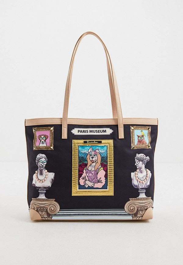 женская сумка с ручками braccialini, черная