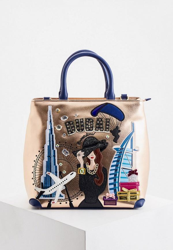 женская сумка braccialini, золотая