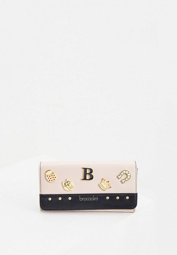 женский кошелёк braccialini, розовый