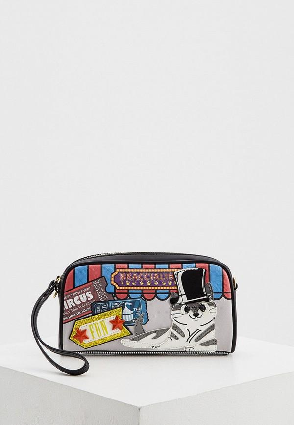 женская сумка braccialini, серая
