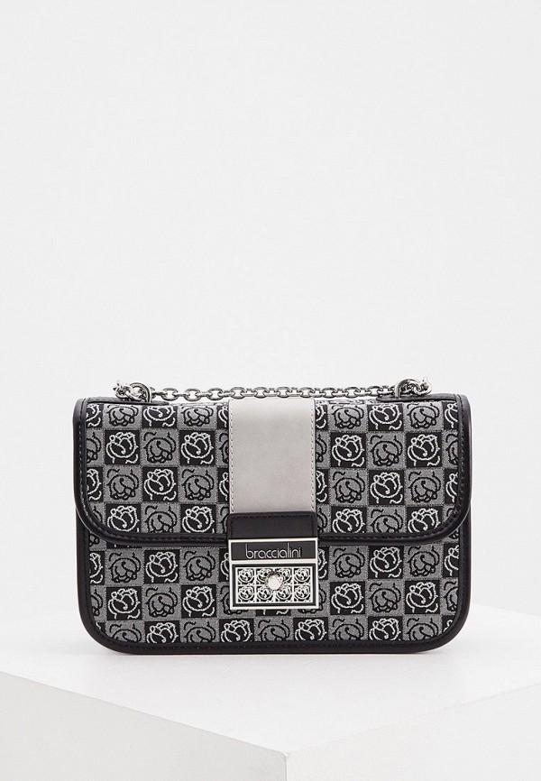 женская сумка braccialini, серебряная