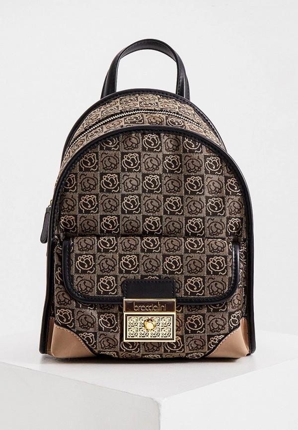 женский рюкзак braccialini, коричневый
