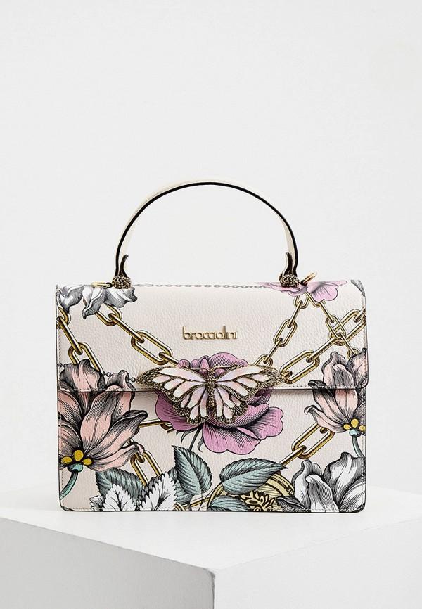 женская сумка braccialini, белая