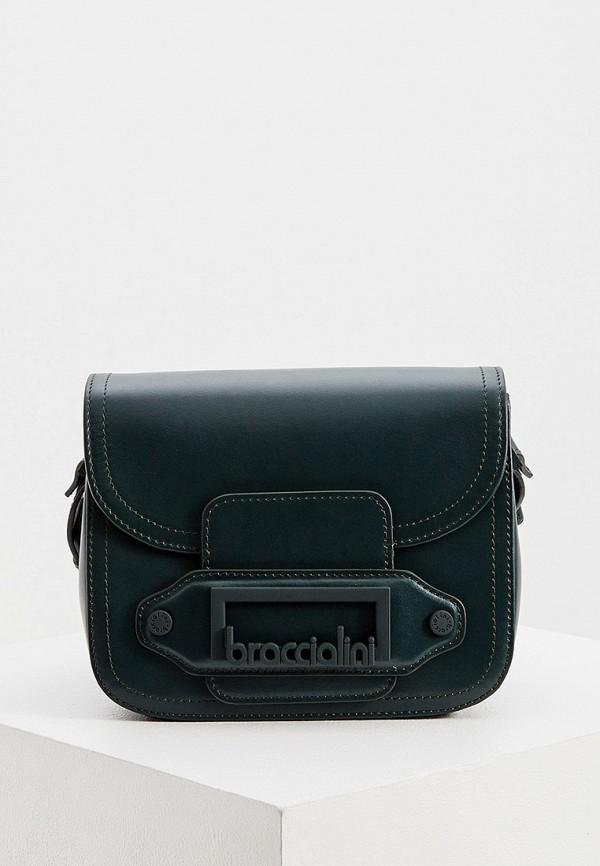 женская сумка braccialini, зеленая