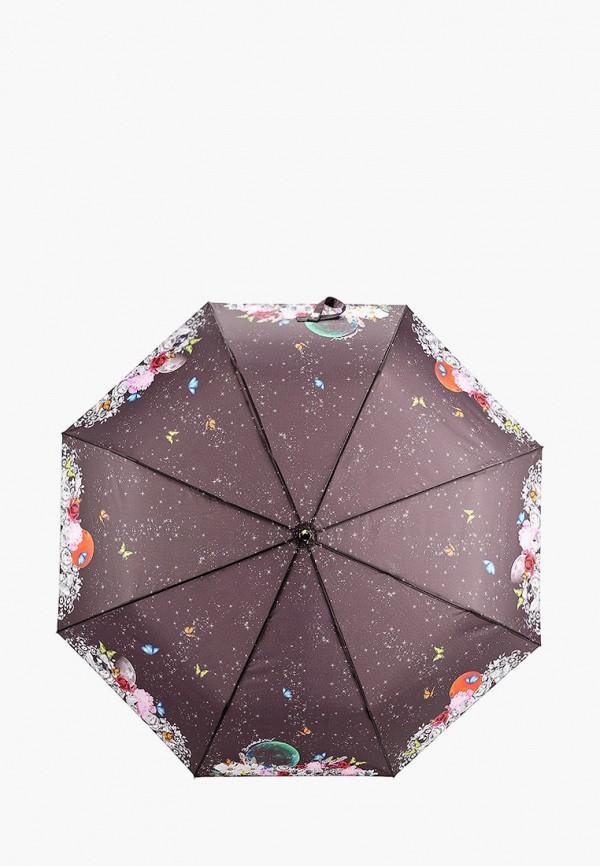 женский складные зонт braccialini, черный