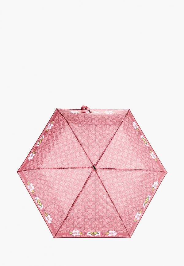 женский складные зонт braccialini, бордовый