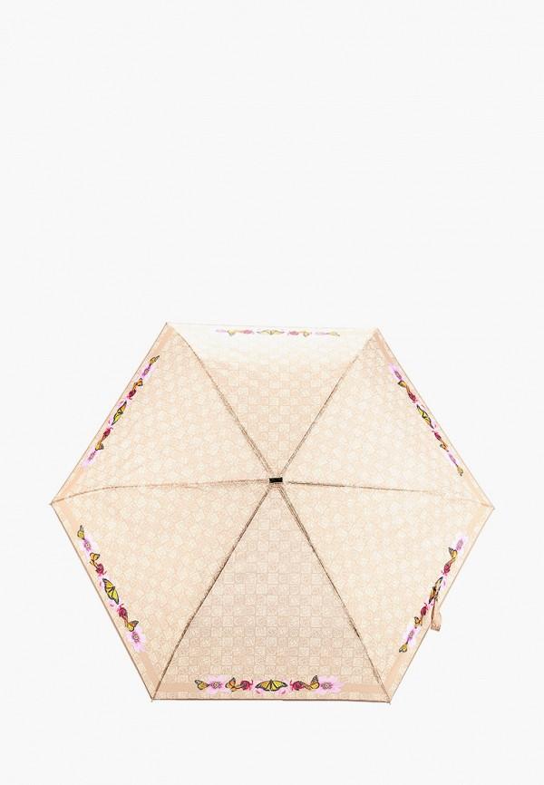 женский складные зонт braccialini, бежевый