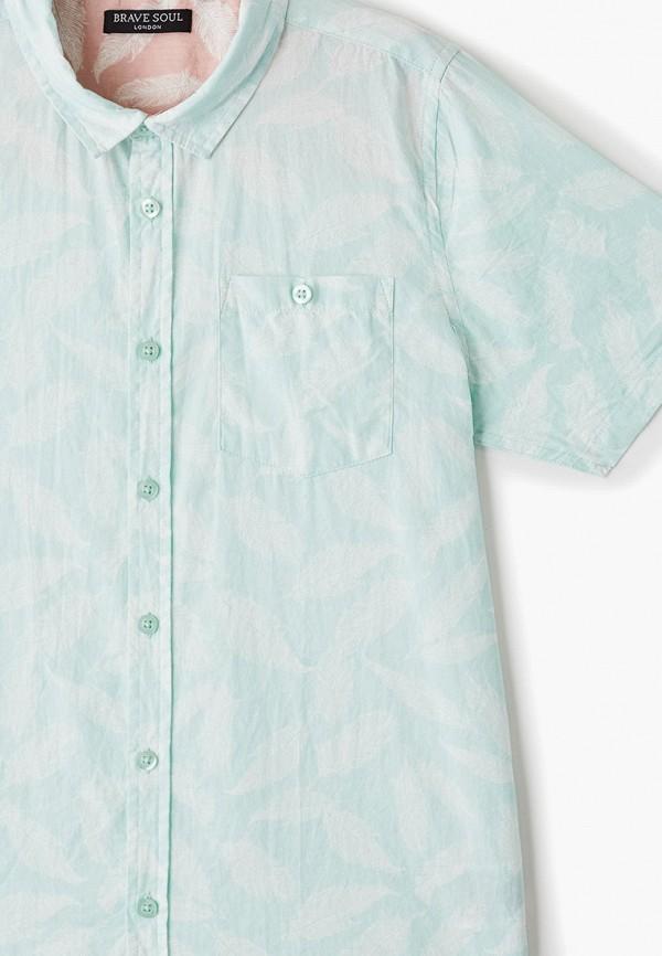 Фото 3 - Рубашку Brave Soul бирюзового цвета