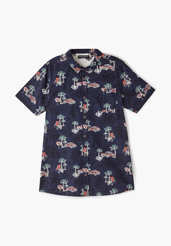рубашка brave soul для мальчика, синяя
