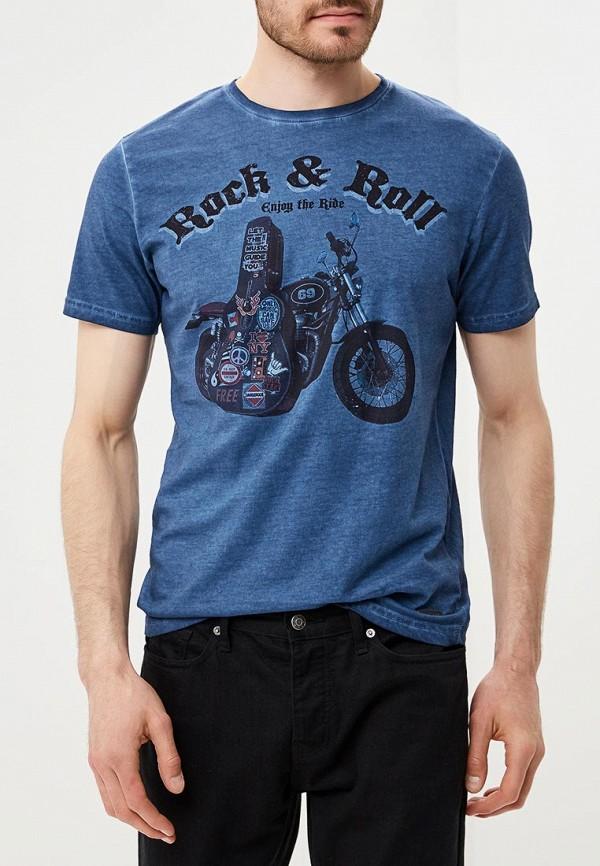 Фото - мужскую футболку Brave Soul синего цвета