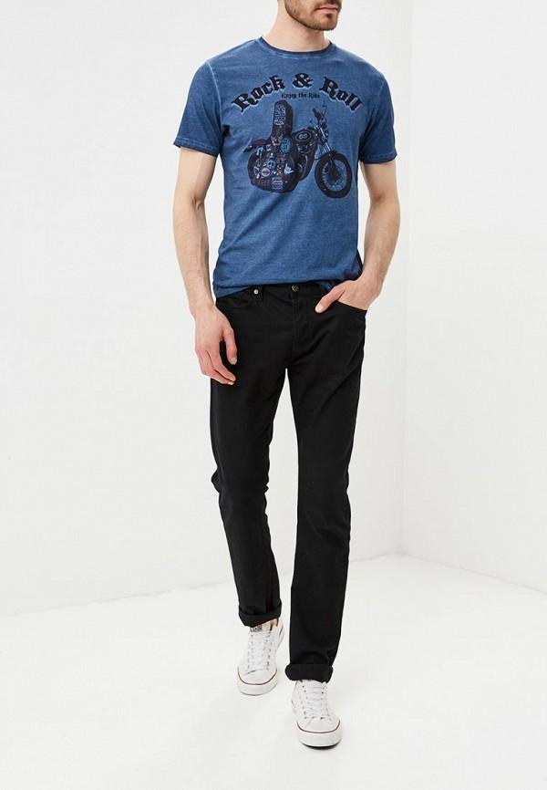 Фото 2 - мужскую футболку Brave Soul синего цвета