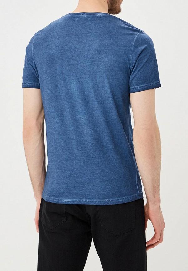 Фото 3 - мужскую футболку Brave Soul синего цвета