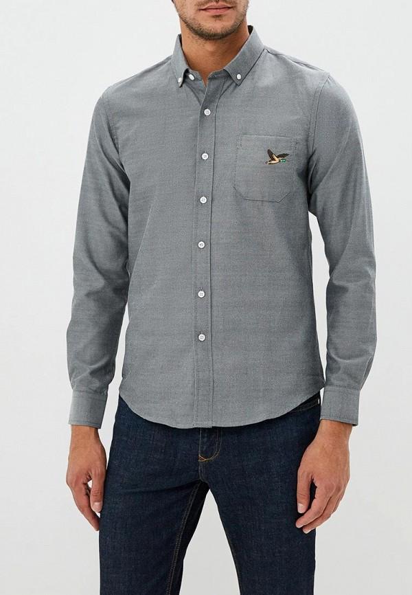 мужская рубашка с длинным рукавом brave soul, серая