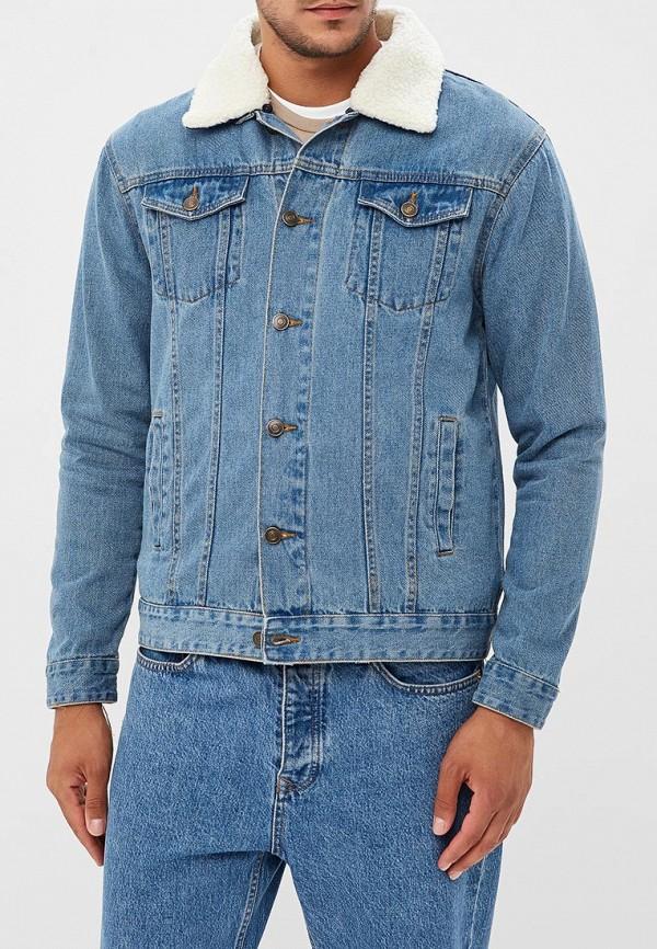 мужская джинсовые куртка brave soul, голубая