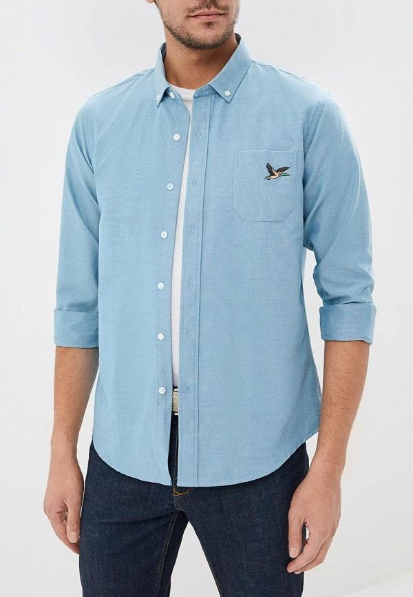 мужская рубашка с длинным рукавом brave soul, синяя