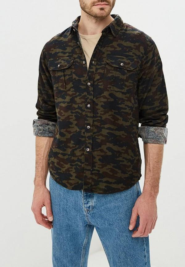 мужская рубашка с длинным рукавом brave soul, хаки