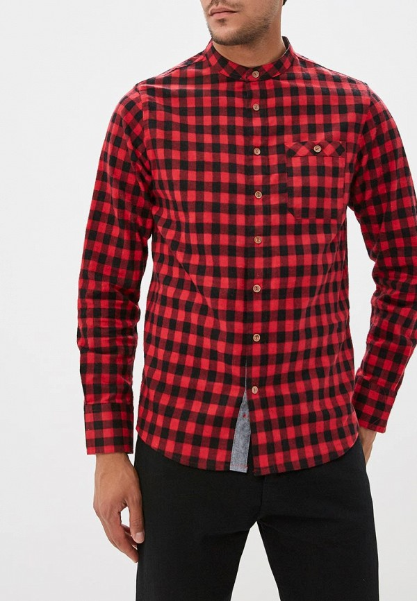 мужская рубашка с длинным рукавом brave soul, красная