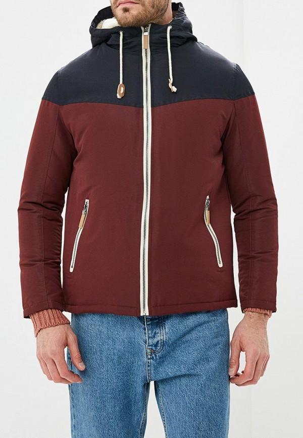 мужская куртка brave soul, бордовая
