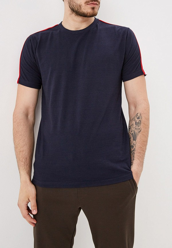 мужская футболка с коротким рукавом brave soul, синяя