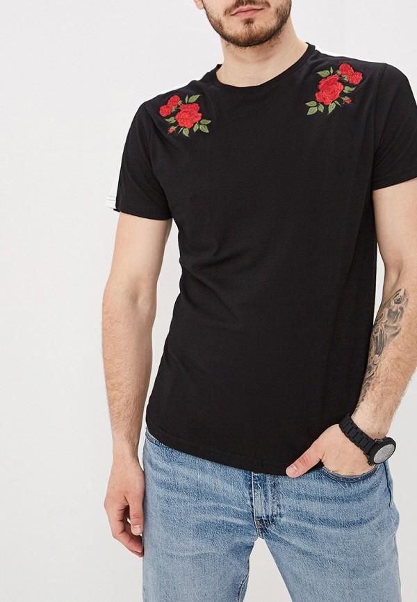мужская футболка с коротким рукавом brave soul, черная