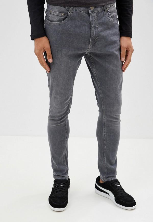мужские зауженные джинсы brave soul, серые