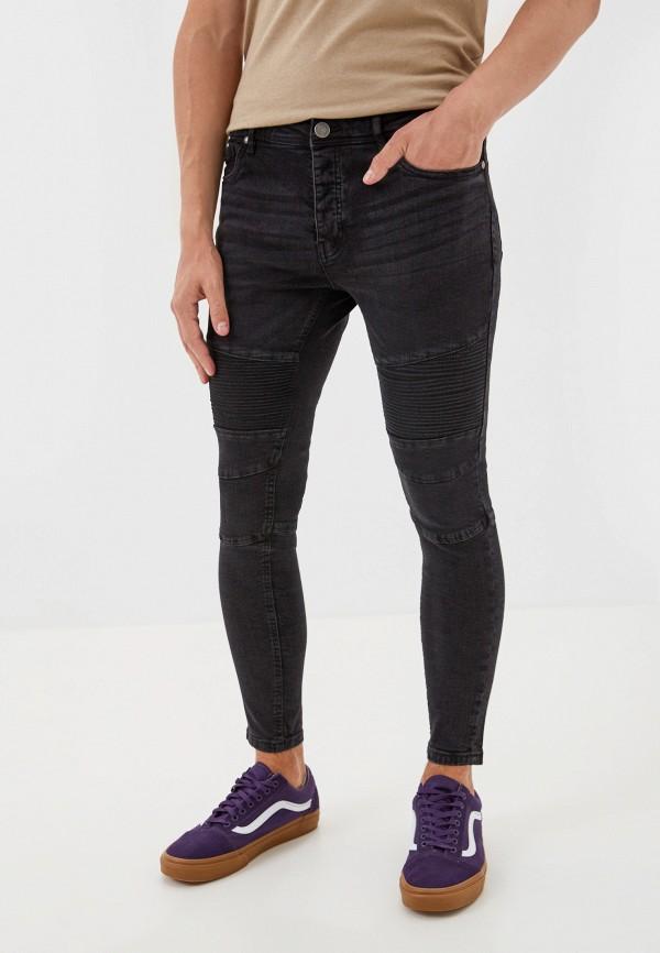 мужские зауженные джинсы brave soul, черные