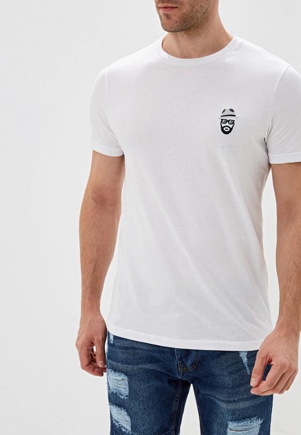 мужская футболка с коротким рукавом brave soul, белая