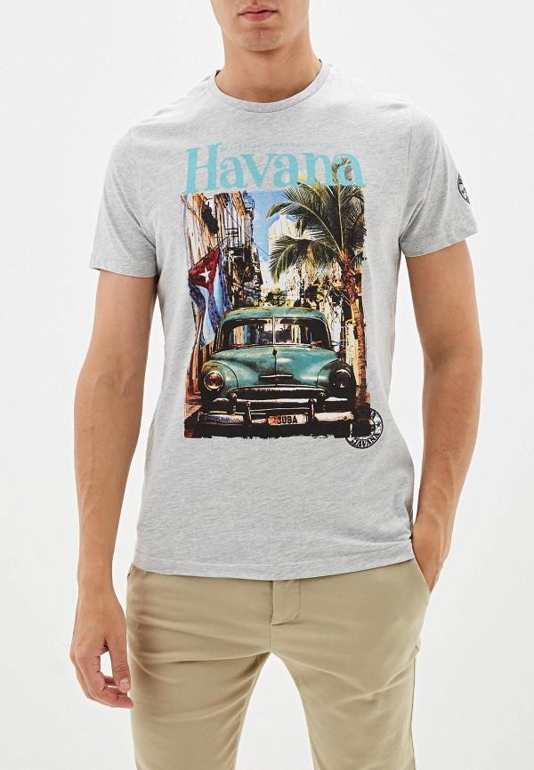мужская футболка с коротким рукавом brave soul, серая