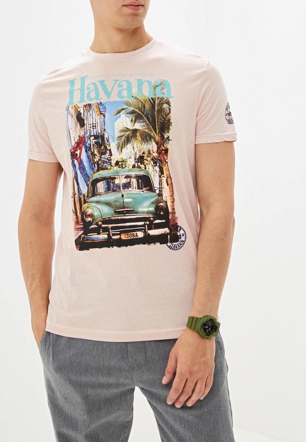 мужская футболка с коротким рукавом brave soul, розовая